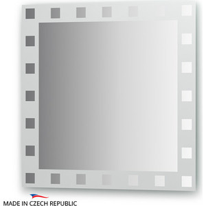 Зеркало FBS Artistica 70х70 см, с орнаментом - квадро, вертикальное или горизонтальное (CZ 0738) зеркало с фацетом 10 mm с зеркальными декоративными элементами 60х150 cm fbs decora cz 0817