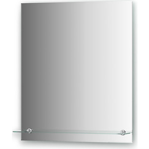Зеркало Evoform Attractive 60х70 см, с фацетом 5 мм и полочкой 60 см (BY 0505)
