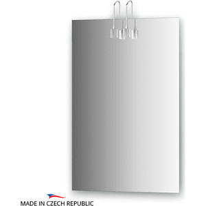 Зеркало Ellux Artic 50х75 см, с 2-мя светильниками 40 W (ART-A2 0205) зеркало ellux artic 50х75 см с 3 мя светильниками 60 w art a3 0205