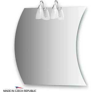 все цены на Зеркало Ellux Classic 60/70х70 см, с 2-мя светильниками 80 W (CLA-A2 0416) в интернете