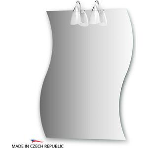 Зеркало Ellux Classic 70х90 см, с 2-мя светильниками 80 W (CLA-A2 0426) led remote control ceiling light bedroom lamp modern minimalist square living room lamp study restaurant aisle ceiling lamp