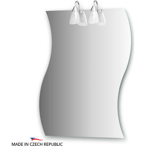 Зеркало Ellux Classic 70х90 см, с 2-мя светильниками 80 W (CLA-A2 0426) knotted plunge long prom dress with slit
