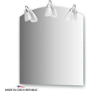 Зеркало Ellux Classic 70х80 см, с 3-мя светильниками 120 W (CLA-A3 0403) пластиковые уличные вазоны высотой 70 80 см в москве