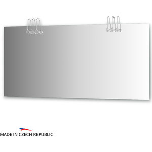 Зеркало Ellux Crystal 160х75 см, с 6-ю светильниками 120 W (CRY-A6 0219) зеркало с 8 ю светильниками 320 w 110х75 cm ellux rondo ron a8 9008