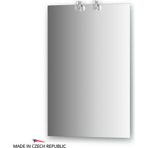Зеркало Ellux Crystal 50х75 см, с 2-мя светильниками 40 W (CRY-B2 0205) зеркало ellux linea led 100х70 см с 2 м встроенными led светильниками 12 w lin b2 9310