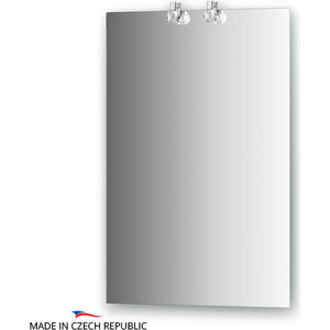 Зеркало Ellux Crystal 50х75 см, с 2-мя светильниками 40 W (CRY-D2 0205) зеркало ellux linea led 100х70 см с 2 м встроенными led светильниками 12 w lin b2 9310