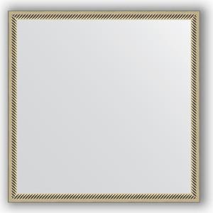 Зеркало в багетной раме Evoform Definite 58x58 см, витое серебро 28 мм (BY 0605) evoform зеркало в багетной раме evoform 72x92 см 6322067 oy czrbo 6322067