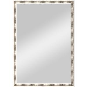 Зеркало в багетной раме поворотное Evoform Definite 48x68 см, витое серебро 28 мм (BY 0622) зеркало evoform by 3170