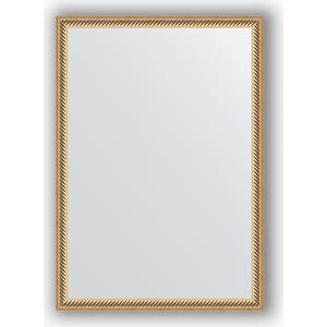 Зеркало в багетной раме поворотное Evoform Definite 48x68 см, витое золото 28 мм (BY 0623) зеркало в багетной раме поворотное evoform definite 58x78 см витое золото 28 мм by 0640