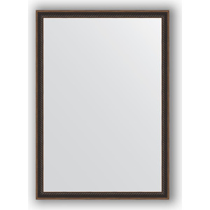 Зеркало в багетной раме поворотное Evoform Definite 48x68 см, витой махагон 28 мм (BY 0624) 0 68 0 48