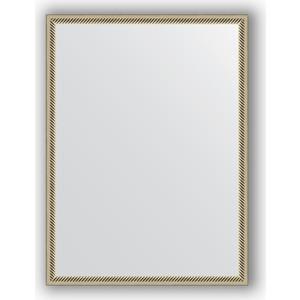 Зеркало в багетной раме поворотное Evoform Definite 58x78 см, витое серебро 28 мм (BY 0639) evoform зеркало в багетной раме evoform 52x142 см 6322099 mpmxd6r 6322099