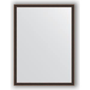 Зеркало в багетной раме поворотное Evoform Definite 58x78 см, витой махагон 28 мм (BY 0641) зеркало в багетной раме поворотное evoform definite 58x78 см витое золото 28 мм by 0640