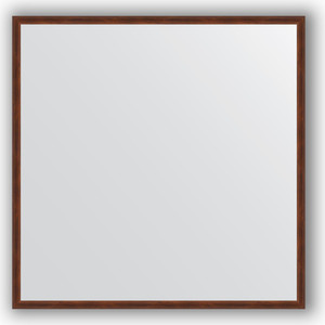 Зеркало в багетной раме Evoform Definite 68x68 см, орех 22 мм (BY 0654) зеркало в багетной раме evoform definite 58x108 см орех 22 мм by 0723