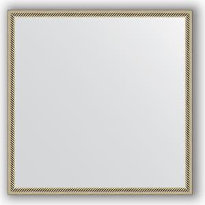 Зеркало в багетной раме Evoform Definite 68x68 см, витое серебро 28 мм (BY 0656) зеркало в раме evoform 480х1380мм витое серебро пластик