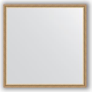 Зеркало в багетной раме Evoform Definite 68x68 см, витое золото 28 мм (BY 0657) зеркало в багетной раме поворотное evoform definite 58x78 см витое золото 28 мм by 0640