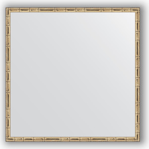 Зеркало в багетной раме Evoform Definite 67x67 см, серебряный бамбук 24 мм (BY 0659)