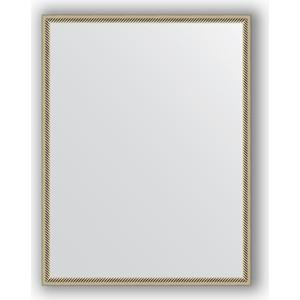 Фото - Зеркало в багетной раме поворотное Evoform Definite 68x88 см, витое серебро 28 мм (BY 0674) зеркало в багетной раме поворотное evoform definite 68x88 см орех 22 мм by 0672