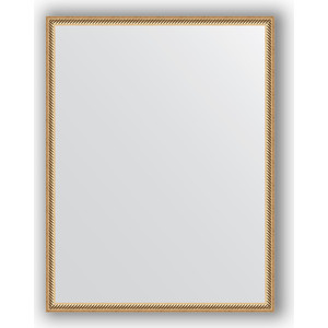 Фото - Зеркало в багетной раме поворотное Evoform Definite 68x88 см, витое золото 28 мм (BY 0675) зеркало в багетной раме поворотное evoform definite 68x88 см орех 22 мм by 0672