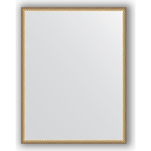 Фото - Зеркало в багетной раме поворотное Evoform Definite 68x88 см, витая латунь 26 мм (BY 0686) зеркало в багетной раме поворотное evoform definite 68x88 см орех 22 мм by 0672
