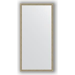 Зеркало в багетной раме поворотное Evoform Definite 48x98 см, витое серебро 28 мм (BY 0691) зеркало в багетной раме поворотное evoform definite 58x78 см витое золото 28 мм by 0640