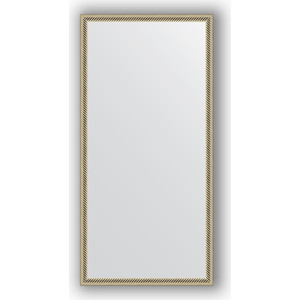 Зеркало в багетной раме поворотное Evoform Definite 48x98 см, витое серебро 28 мм (BY 0691) зеркало в багетной раме evoform definite 56x56 см сталь 20 мм by 0774
