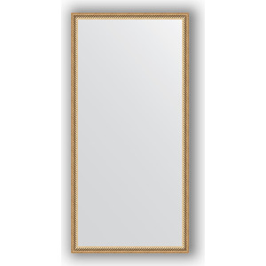 Зеркало в багетной раме поворотное Evoform Definite 48x98 см, витое золото 28 мм (BY 0692) зеркало в багетной раме поворотное evoform definite 58x78 см витое золото 28 мм by 0640