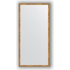 Зеркало в багетной раме поворотное Evoform Definite 47x97 см, золотой бамбук 24 мм (BY 0695) цена
