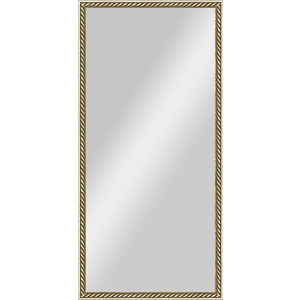цена на Зеркало в багетной раме поворотное Evoform Definite 48x98 см, витая латунь 26 мм (BY 0703)