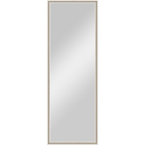 Зеркало в багетной раме поворотное Evoform Definite 48x138 см, витое серебро 28 мм (BY 0708) зеркало в раме evoform 480х1380мм витое серебро пластик