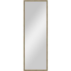 Зеркало в багетной раме поворотное Evoform Definite 48x138 см, витая латунь 26 мм (BY 0720) зеркало в багетной раме поворотное evoform definite 48x138 см вишня 22 мм by 0705