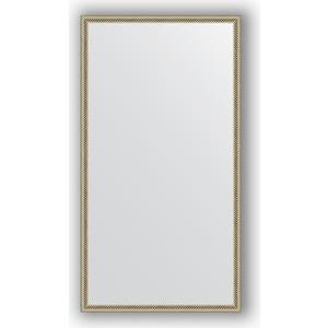 Зеркало в багетной раме поворотное Evoform Definite 58x108 см, витое серебро 28 мм (BY 0725) зеркало в багетной раме поворотное evoform definite 58x78 см витое золото 28 мм by 0640