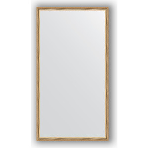 Зеркало в багетной раме поворотное Evoform Definite 58x108 см, витое золото 28 мм (BY 0726) зеркало в багетной раме поворотное evoform definite 58x78 см витое золото 28 мм by 0640