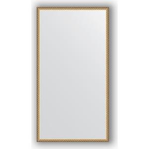 Зеркало в багетной раме поворотное Evoform Definite 58x108 см, витая латунь 26 мм (BY 0737)