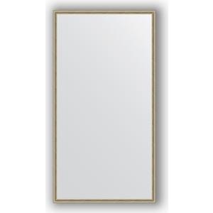 Зеркало в багетной раме поворотное Evoform Definite 68x128 см, витое серебро 28 мм (BY 0742) зеркало в багетной раме поворотное evoform definite 58x78 см витое золото 28 мм by 0640