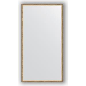 Зеркало в багетной раме поворотное Evoform Definite 68x128 см, витая латунь 26 мм (BY 0754) зеркало в багетной раме поворотное evoform definite 56x76 см серебряный дождь 70 мм by 3048