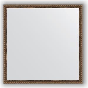 Зеркало в багетной раме Evoform Definite 58x58 см, витая бронза 26 мм (BY 0772)