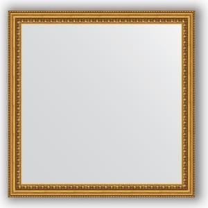 Зеркало в багетной раме Evoform Definite 62x62 см, бусы золотые 46 мм (BY 0777) зеркало в багетной раме evoform definite 38x48 см бусы золотые 46 мм by 1344