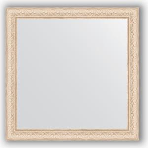 Зеркало в багетной раме Evoform Definite 64x64 см, беленый дуб 57 мм (BY 0781) зеркало в багетной раме поворотное evoform definite 54x74 см беленый дуб 57 мм by 0796