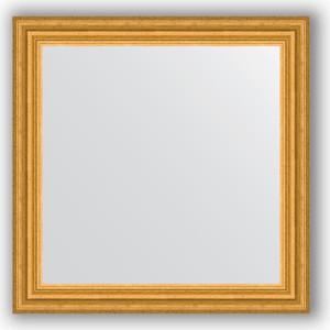 Зеркало в багетной раме Evoform Definite 66x66 см, состаренное золото 67 мм (BY 0786) зеркало в багетной раме evoform definite 50x140 см состаренное серебро 37 мм by 0713