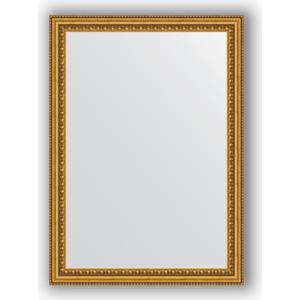 Зеркало в багетной раме поворотное Evoform Definite 52x72 см, бусы золотые 46 мм (BY 0792) зеркало в багетной раме evoform definite 38x48 см бусы золотые 46 мм by 1344