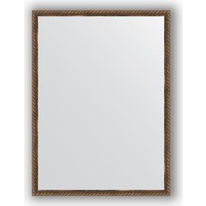 Зеркало в багетной раме поворотное Evoform Definite 58x78 см, витая бронза 26 мм (BY 1002) цены