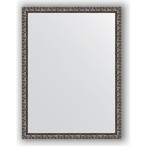 Зеркало в багетной раме поворотное Evoform Definite 60x80 см, черненое серебро 38 мм (BY 1003) evoform зеркало evoform 60x80 см 6321737 qw05kv1 6321737