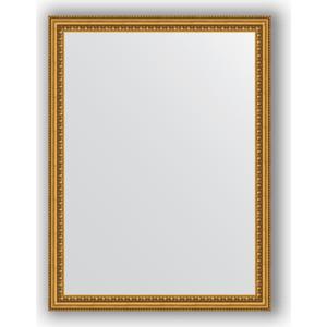 Зеркало в багетной раме поворотное Evoform Definite 62x82 см, бусы золотые 46 мм (BY 1007) все цены