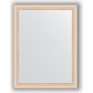 Зеркало в багетной раме поворотное Evoform Definite 64x84 см, беленый дуб 57 мм (BY 1011) зеркало в багетной раме evoform definite 64x64 см беленый дуб 57 мм by 0781