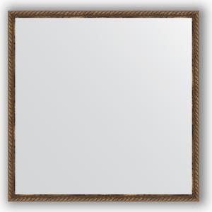 Зеркало в багетной раме Evoform Definite 68x68 см, витая бронза 26 мм (BY 1017) цены
