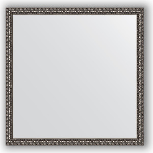 Зеркало в багетной раме Evoform Definite 70x70 см, черненое серебро 38 мм (BY 1018) цена