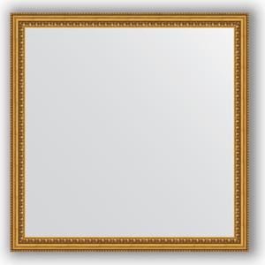 Зеркало в багетной раме Evoform Definite 72x72 см, бусы золотые 46 мм (BY 1022) зеркало в багетной раме evoform definite 38x48 см бусы золотые 46 мм by 1344