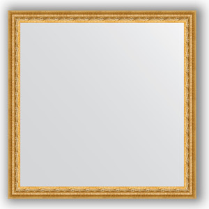 Фото - Зеркало в багетной раме Evoform Definite 72x72 см, сусальное золото 47 мм (BY 1023) зеркало в багетной раме поворотное evoform definite 52x142 см сусальное золото 47 мм by 1068