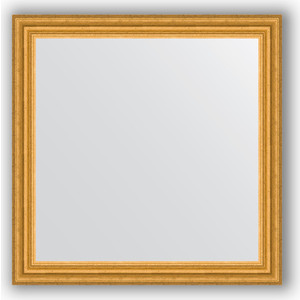 Зеркало в багетной раме Evoform Definite 76x76 см, состаренное золото 67 мм (BY 1031) зеркало в багетной раме evoform definite 50x140 см состаренное серебро 37 мм by 0713
