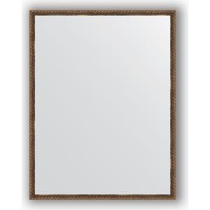 Фото - Зеркало в багетной раме поворотное Evoform Definite 68x88 см, витая бронза 26 мм (BY 1032) зеркало в багетной раме поворотное evoform definite 68x88 см орех 22 мм by 0672